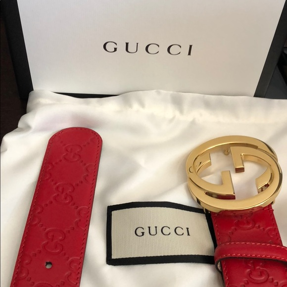 387bd3c2f03 Brand new gucci red belt. NWT. Bloomingdale s